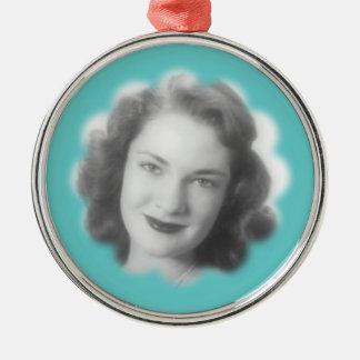 Foto de encargo del vintage adorno redondo plateado