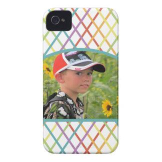 Foto de encargo entrecruzada colorida linda funda para iPhone 4 de Case-Mate