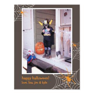 """Foto de encargo espeluznante Halloween del marco Invitación 4.25"""" X 5.5"""""""