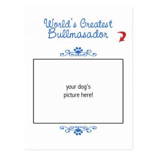 ¡Foto de encargo! Mundos el Bullmasador más grande Tarjeta Postal