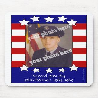 Foto de encargo patriótica Mousepad de las barras