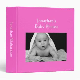 """Foto de encargo rosada brillante del álbum de foto carpeta 1 1/2"""""""