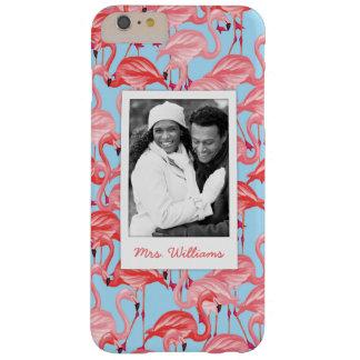 Foto de encargo y flamencos rosados brillantes funda barely there iPhone 6 plus