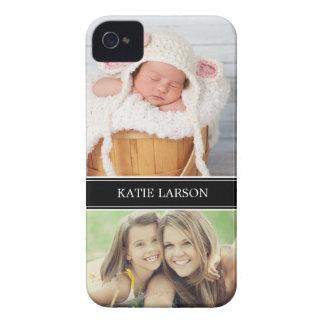 Foto de encargo y monograma personalizados funda para iPhone 4 de Case-Mate