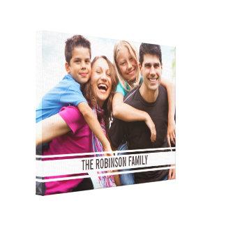Foto de familia de la barra del equipo universitar impresión en lienzo