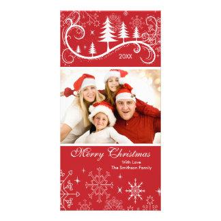 Foto de familia de los copos de nieve y de las Fel Tarjeta Con Foto Personalizada