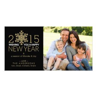Foto de familia del copo de nieve del día de tarjeta fotografica personalizada