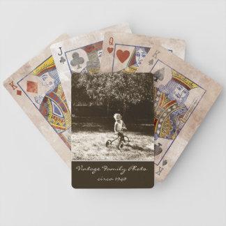 Foto de familia del vintage modificada para requis barajas de cartas