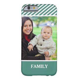 Foto de familia personalizada - rayas verdes funda de iPhone 6 barely there