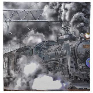 Foto de HDR de los trenes de los motores de vapor Servilletas Imprimidas