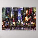 Foto de HDR del Times Square Impresiones