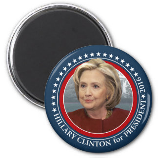 Foto de Hillary Clinton - engranaje de 2016 Imán Redondo 5 Cm