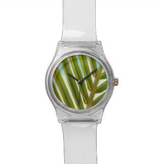 Foto de hoja de palma relojes de pulsera