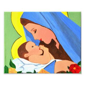 Foto de Jesús de Maria y del bebé Cojinete