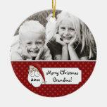 Foto de la abuela de Papá Noel del navidad persona Ornamento Para Arbol De Navidad