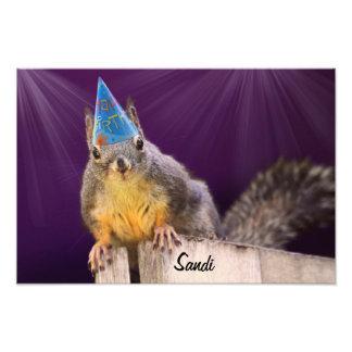 Foto de la ardilla del cumpleaños