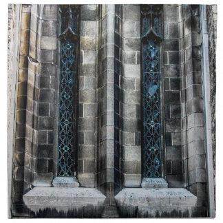 Foto de la arquitectura de la iglesia de New York Servilleta Imprimida