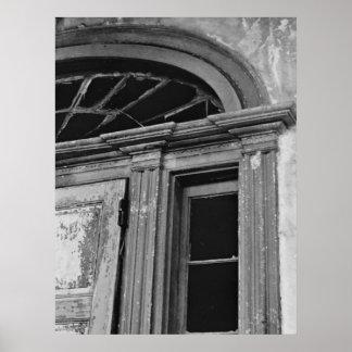 Foto de la arquitectura - puerta abandonada de la  póster