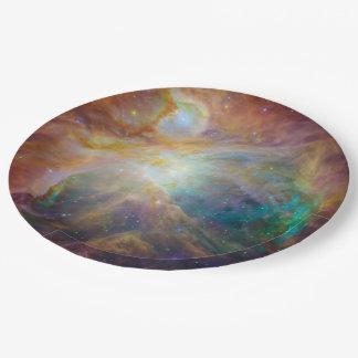 Foto de la astronomía de la nebulosa de Orión Plato De Papel De 9 Pulgadas