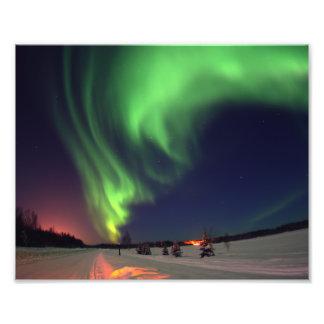 Foto de la aurora boreal cojinete
