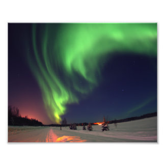 Foto de la aurora boreal