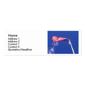 Foto de la bandera americana tarjetas de visita mini