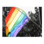 Foto de la bandera de LGBT Tarjeta Postal