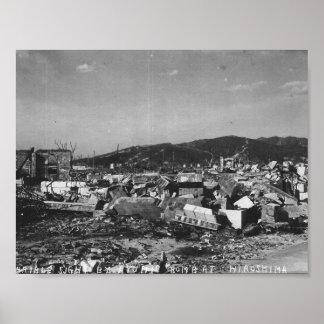 Foto de la bomba atómica de WWII de Hiroshima Posters