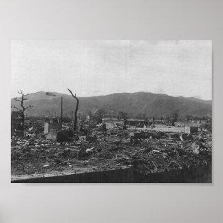 Foto de la bomba atómica de WWII de Hiroshima Póster