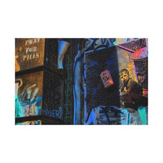 Foto de la calle de la pintada de New York City Impresiones En Lona Estiradas