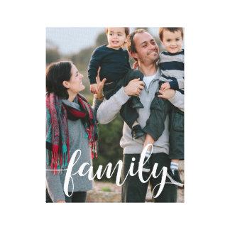 Foto de la capa de la escritura de la familia impresión en lienzo