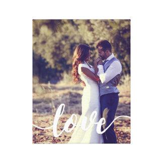 Foto de la capa de la escritura del amor impresión en lienzo