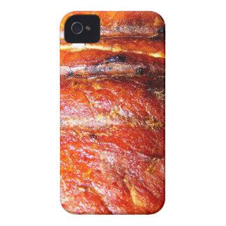 Foto de la carne asada del lomo de cerdo iPhone 4 carcasas