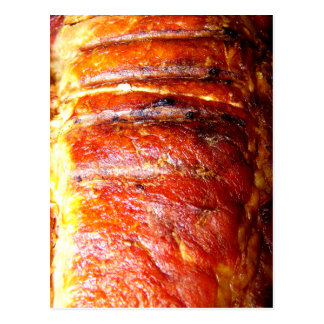 Foto de la carne asada del lomo de cerdo postal
