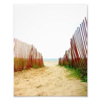 Foto de la cerca de la trayectoria de la playa cojinete