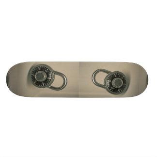 Foto de la cerradura de combinación tablas de patinar