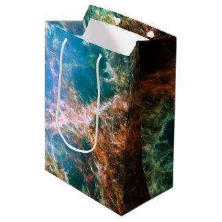 Foto de la ciencia de la astronomía de espacio de bolsa de regalo mediana
