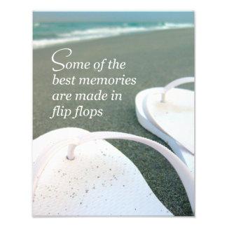 Foto de la cita de la playa de los flips-flopes