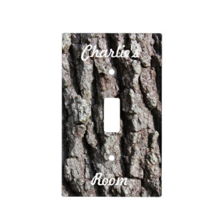 Foto de la corteza de Live Oak del personalizar Placa Para Interruptor