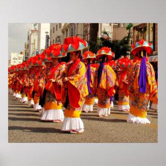 Foto de la danza de Ryukyu Póster