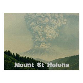 Foto de la erupción del volcán del Monte Saint Postales