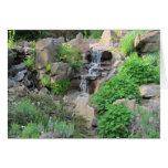 Foto de la escena de la naturaleza de las cascadas tarjeton