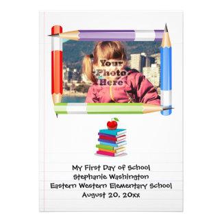 Foto de la escuela de los niños de los niños perso invitaciones personales
