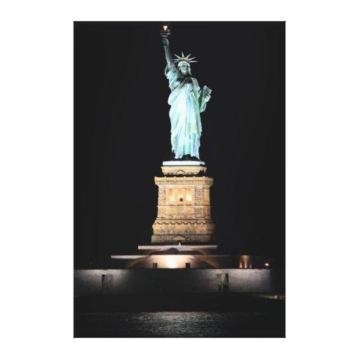Foto de la estatua de la libertad en NYC Lona Envuelta Para Galerías