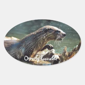 Foto de la fauna de los Animal-amantes de la Pegatina Ovalada