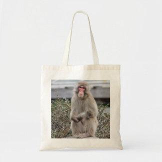 Foto de la fauna del mono de la nieve bolsas de mano