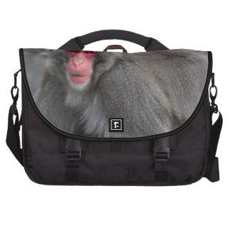 Foto de la fauna del mono de la nieve bolsas de ordenador