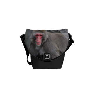 Foto de la fauna del mono de la nieve bolsa messenger