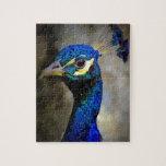 Foto de la fauna del pavo real puzzle
