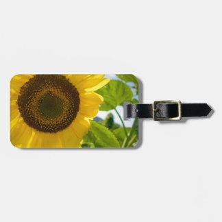 Foto de la flor etiquetas maleta
